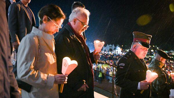 Президент Латвии Эгилс Левитс на Празднике Успения Пресвятой Девы Марии в Аглоне - Sputnik Латвия