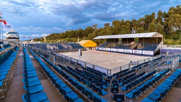 Стадион для пляжного волейбола в Юрмале - Sputnik Латвия
