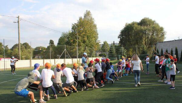 Спартакиада Energy Party для подростков из детских домов и неблагополучных семей - Sputnik Латвия