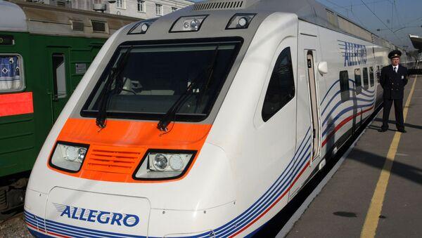 Презентация скоростного поезда Аллегро в Санкт-Петербурге - Sputnik Латвия