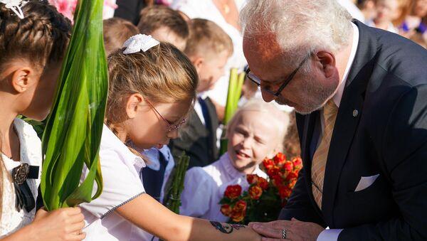 День знаний в Рижской средней школе №88. Президент Латвии Эгилс Левитс - Sputnik Латвия