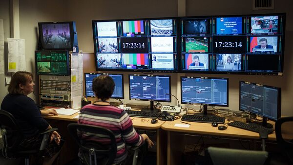 Студия вещания телеканала Россия на страны ближнего зарубежья - Sputnik Латвия