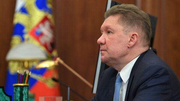 Президент РФ В. Путин встретился с главой Газпрома А. Миллером - Sputnik Latvija