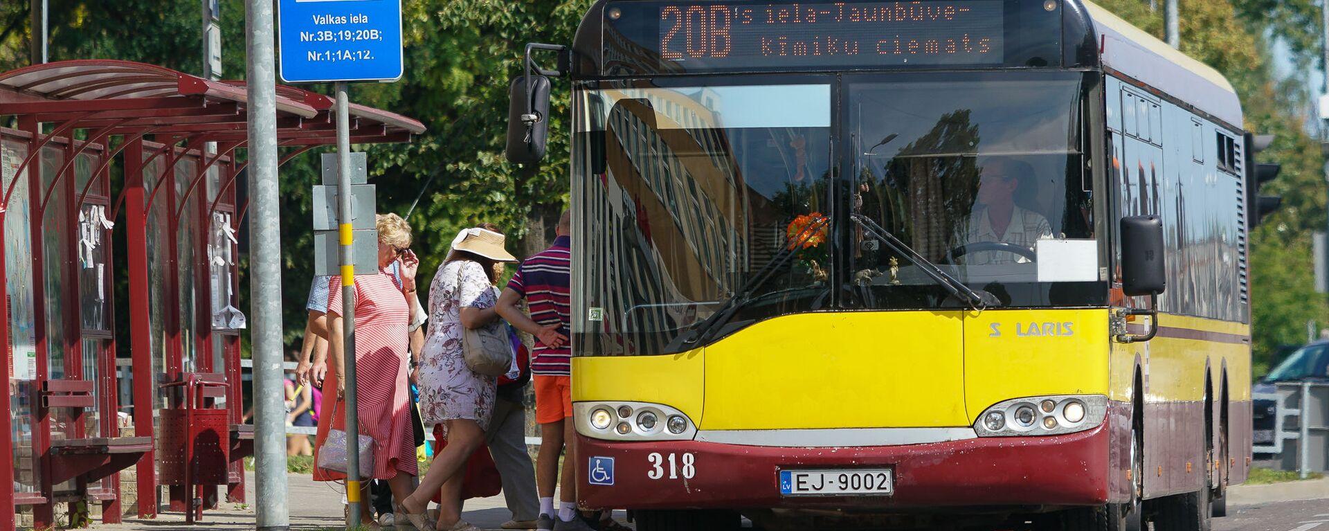 Автобус в Даугавпилсе - Sputnik Латвия, 1920, 08.10.2019