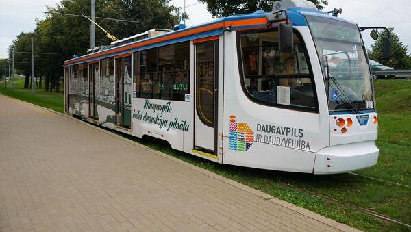 Новые трамваи City Star совместного производства Тверского вагоностроительного завода и ПК Транспортные системы в Даугавпилсе - Sputnik Латвия