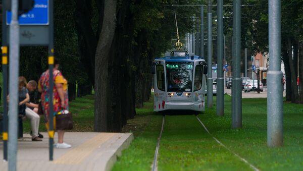 Новые трамваи City Star совместного производства Тверского вагоностроительного завода и ПК Транспортные системы в Даугавпилсе - Sputnik Latvija