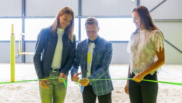 Новый центр пляжного волейбола Ruukki в Марупском крае - Sputnik Латвия