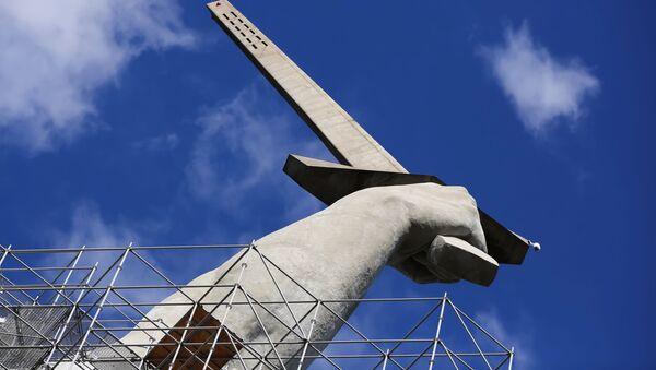 Фрагмент монумента Родина-мать зовет в Волгограде - Sputnik Латвия