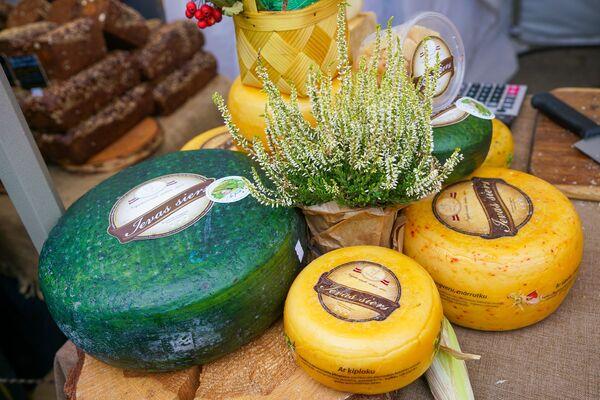 Вот такой красивый сыр можно купить в День Микелиса на Домской площади - Sputnik Латвия