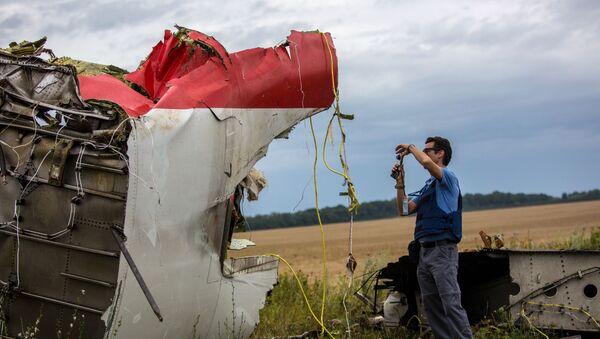 Поисковые работы на месте крушения малайзийского лайнера Boeing 777 в районе Шахтерска - Sputnik Latvija