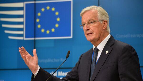Глава делегации ЕС на переговорах по Брекзиту Мишель Барнье - Sputnik Latvija