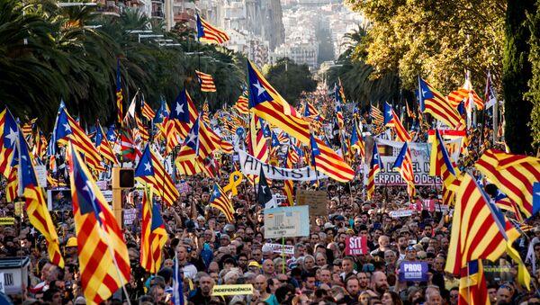Акции протеста в Барселоне - Sputnik Latvija