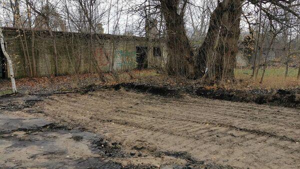 Все, что осталось на месте памятника героям-подводникам Балтики в Риге - Sputnik Латвия