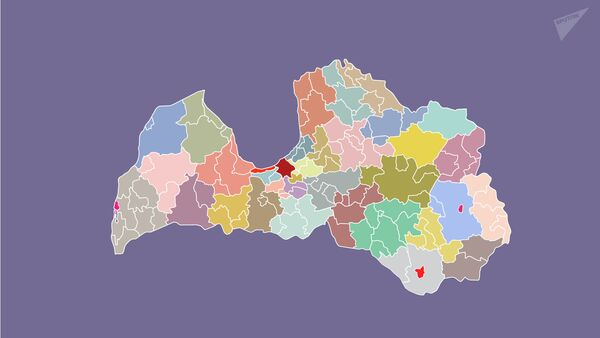 Какой станет карта Латвии после административно-территориальной реформы - Sputnik Латвия