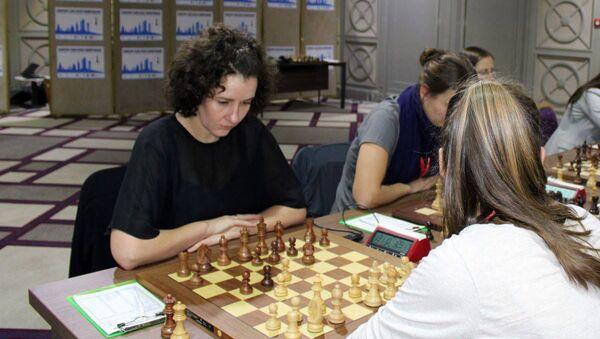 Дана Рейзниеце-Озола на командном чемпионате Европы по шахматам - Sputnik Latvija