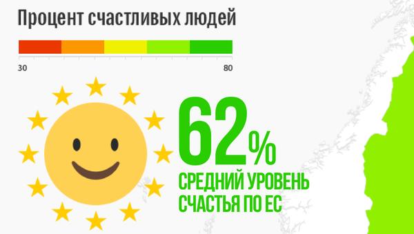 В каких странах ЕС живут самые счастливые люди - Sputnik Латвия