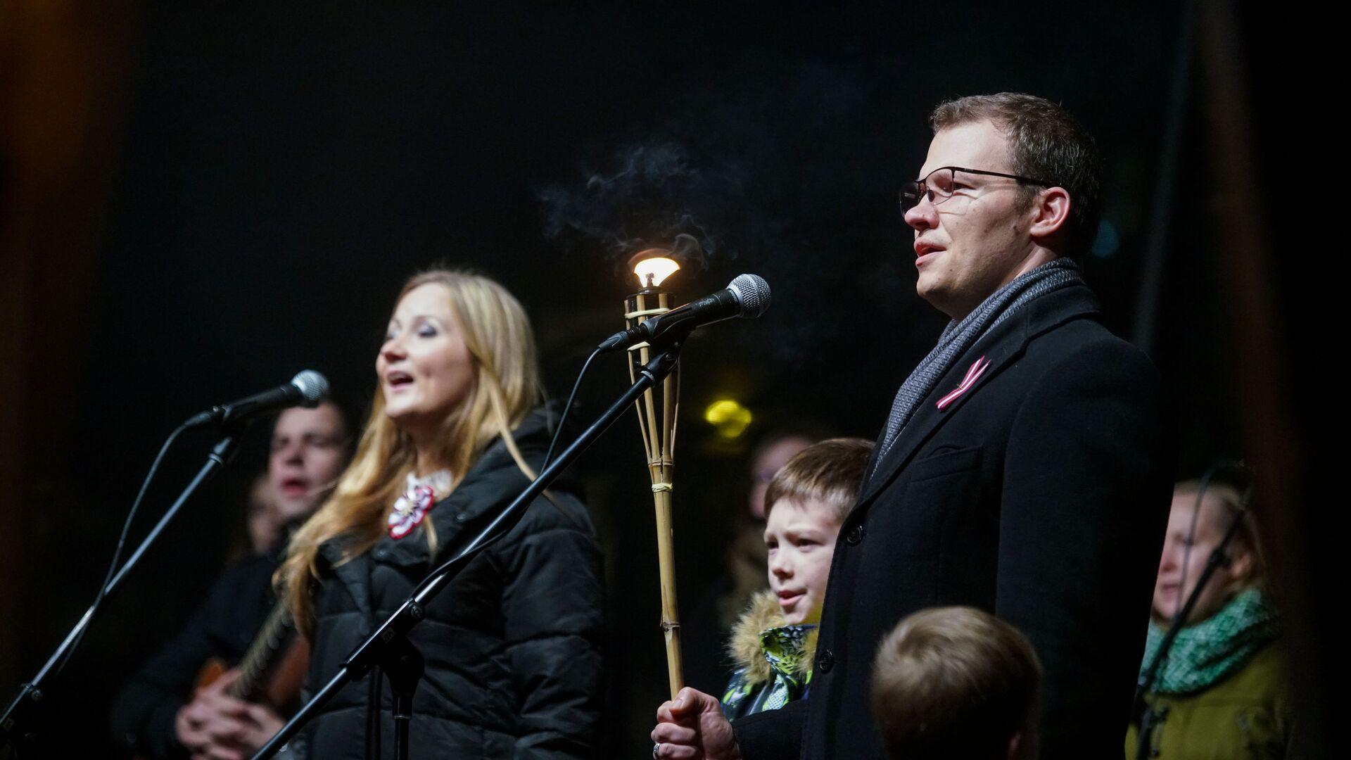 Лидер латвийского национального объединения «Всё для Латвии!» — «Отечеству и свободе/ДННЛ» Райвис Дзинтарс - Sputnik Латвия, 1920, 25.06.2021