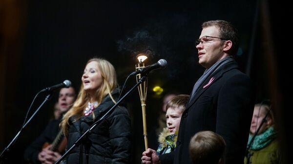 Лидер латвийского национального объединения «Всё для Латвии!» — «Отечеству и свободе/ДННЛ» Райвис Дзинтарс - Sputnik Latvija