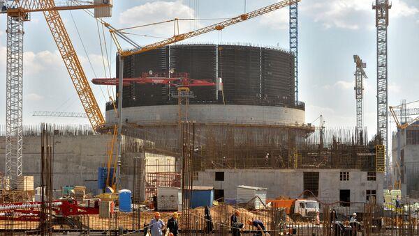 Строительство Белорусской АЭС в Островце - Sputnik Latvija
