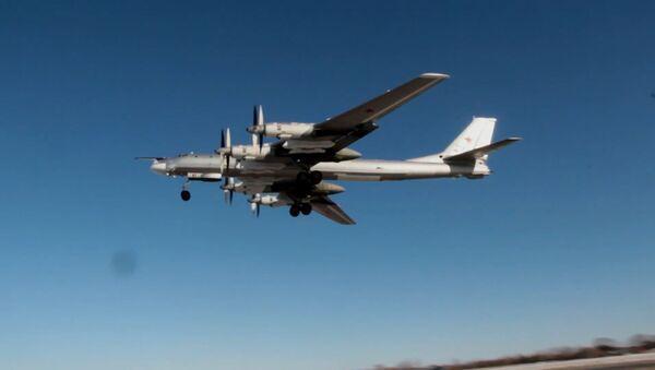 Полет с кортежем: японские южнокорейские истребители сопроводили российские Ту-95МС - Sputnik Латвия
