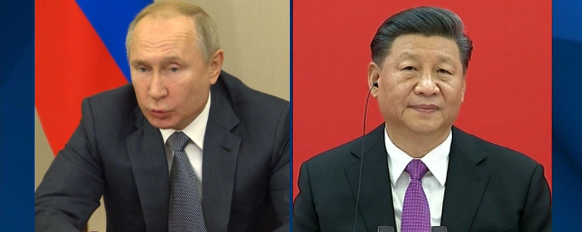 Начинайте! Смотрите, как Путин и Си открыли газопровод Сила Сибири - Sputnik Латвия, 1920, 02.12.2019