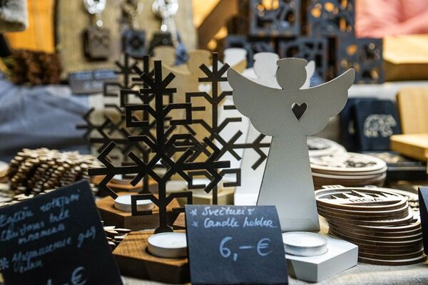 Сувениры на рождественской ярмарке в Риге - Sputnik Латвия