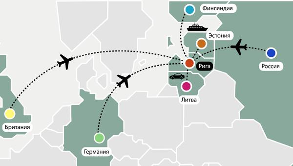 Иностранные туристы в Риге - Sputnik Латвия