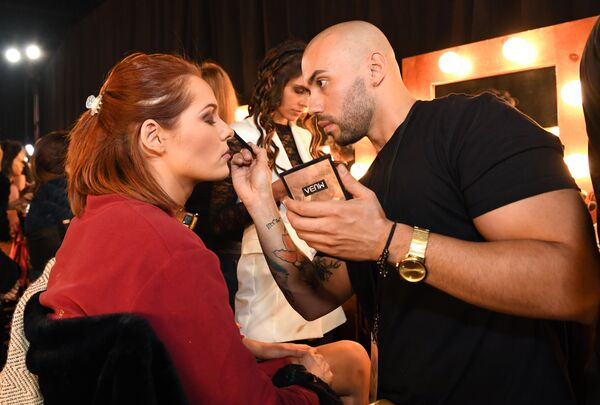 Мисс Франция во время подготовки к конкурсу красоты Мисс Вселенная 2019 в Атланте, США - Sputnik Латвия