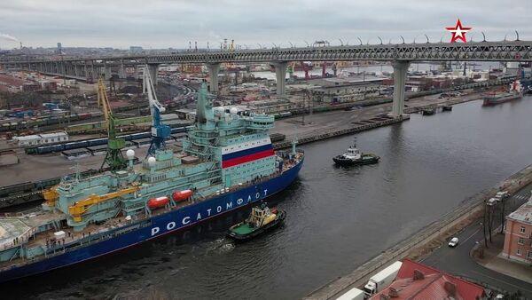 Мощнейший в мире атомный ледокол Арктика вышел на ходовые испытания в Финский залив - Sputnik Латвия