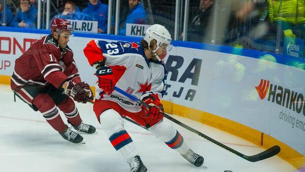 Игра регулярного чемпионата КХЛ по хоккею между Динамо(Рига) и ЦСКА (Москва) - Sputnik Латвия
