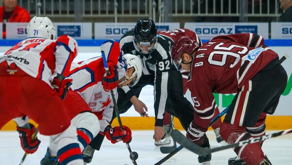 Игра регулярного чемпионата КХЛ по хоккею между Динамо (Рига) и ЦСКА (Москва) - Sputnik Латвия
