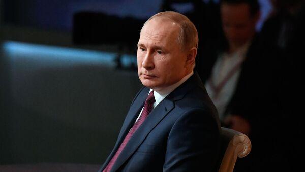 Президент России Владимир Путин. - Sputnik Латвия