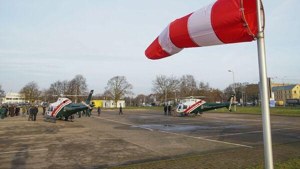 Церемония приемки новых вертолетов AW 119 Kx для нужд погранохраны и МВД - Sputnik Latvija