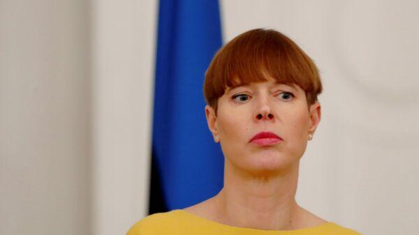 Президент Эстонии Керсти Кальюлайд - Sputnik Латвия