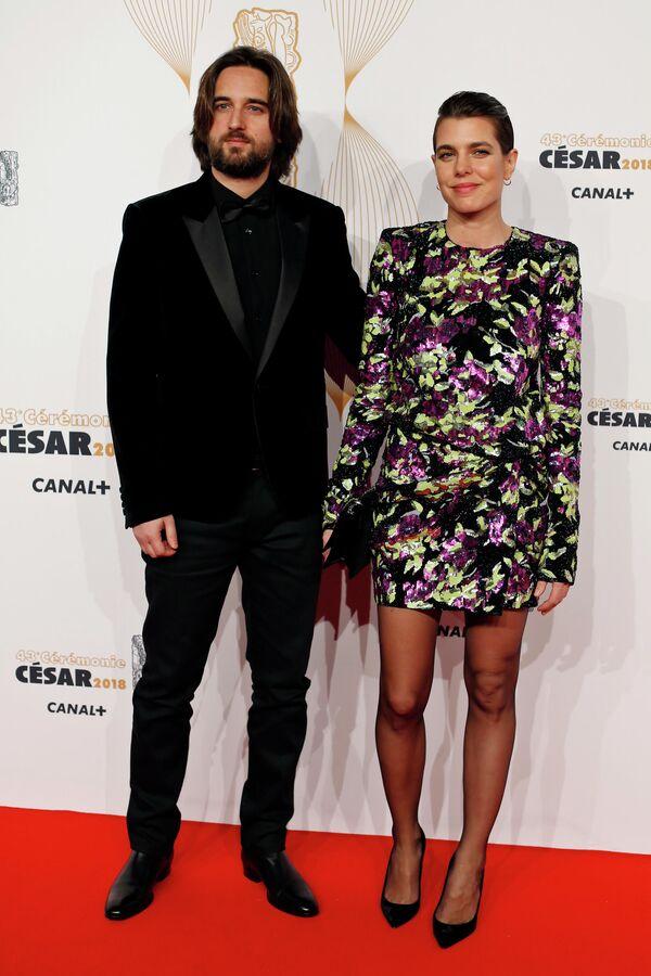 Бизнесвумен Шарлотта Казираги и кинопродюсер Дмитрий Рассам в Париже, архивное фото - Sputnik Латвия