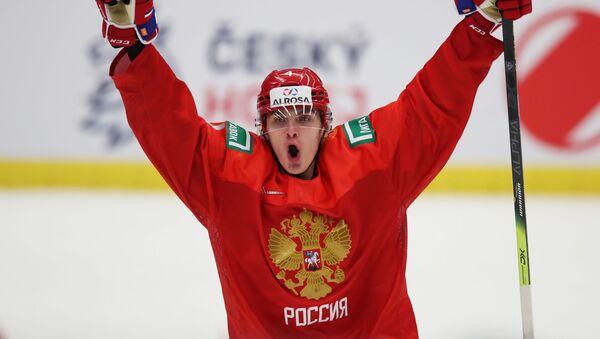 Защитник молодежной сборной России по хоккею Егор Замула - Sputnik Латвия