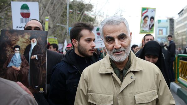 Командующий спецподразделением «аль-Кудс» в составе Корпуса стражей исламской революции генерал-майор Касем Сулеймани в Тегеране - Sputnik Латвия