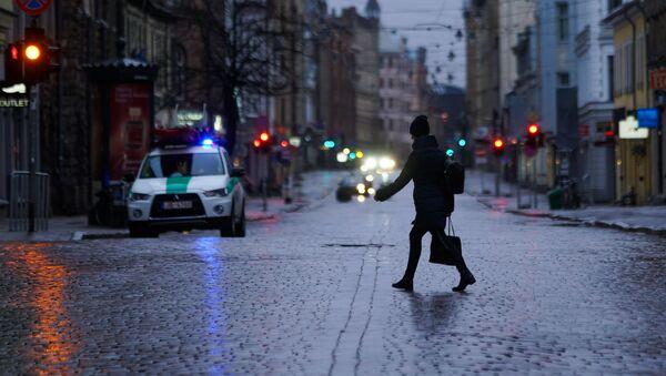 На один день улица Тербатас в Риге стала пешеходной. - Sputnik Латвия