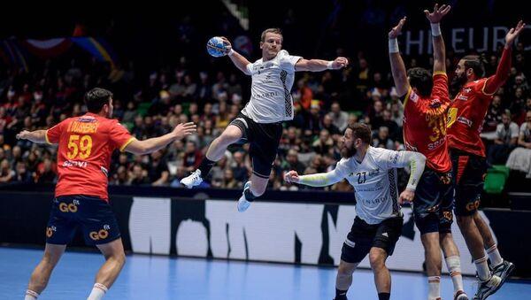 Дебют сборной Латвии по гандболу на ЧЕ в матче против Испании - Sputnik Латвия