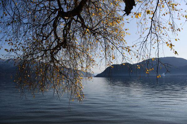 Телецкое озеро вблизи поселка Яйлю в Алтайском природном биосферном заповеднике - Sputnik Латвия