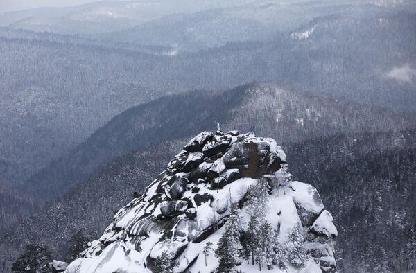 Государственный природный заповедник Столбы в Красноярске - Sputnik Латвия