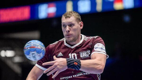 Лидер сборной Латвии по гандболу Дайнис Криштопанс - Sputnik Латвия