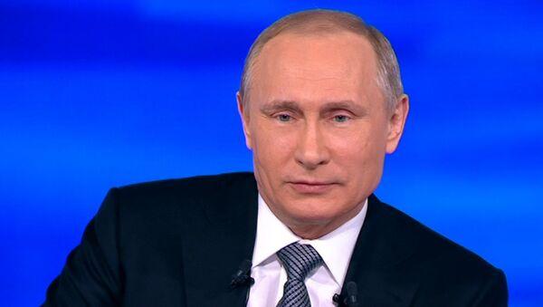 Прямая линия с Путиным: инфляция, терроризм, санкции и панамское досье - Sputnik Latvija