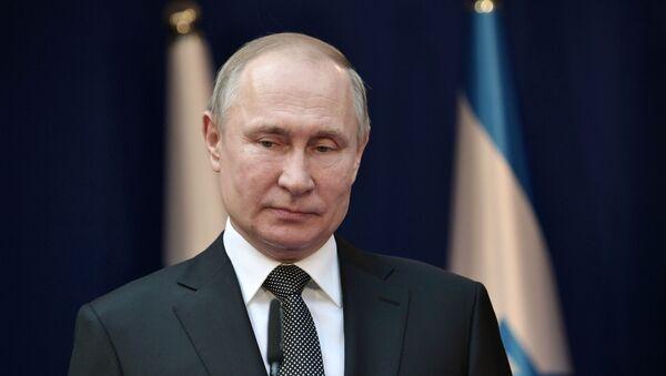 Президент РФ Владимир Путин в ходе рабочего визита в Израиль, 23 января 2020 - Sputnik Latvija