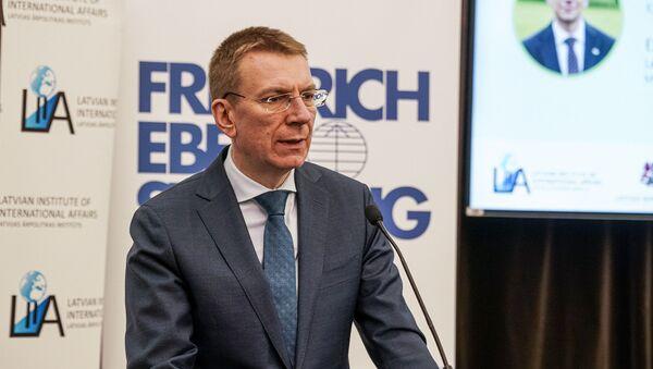 Глава МИД Латвии Эдгарс Ринкевичс - Sputnik Латвия