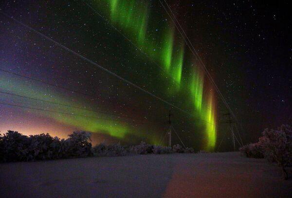 Северное сияние в Мурманской области - Sputnik Латвия