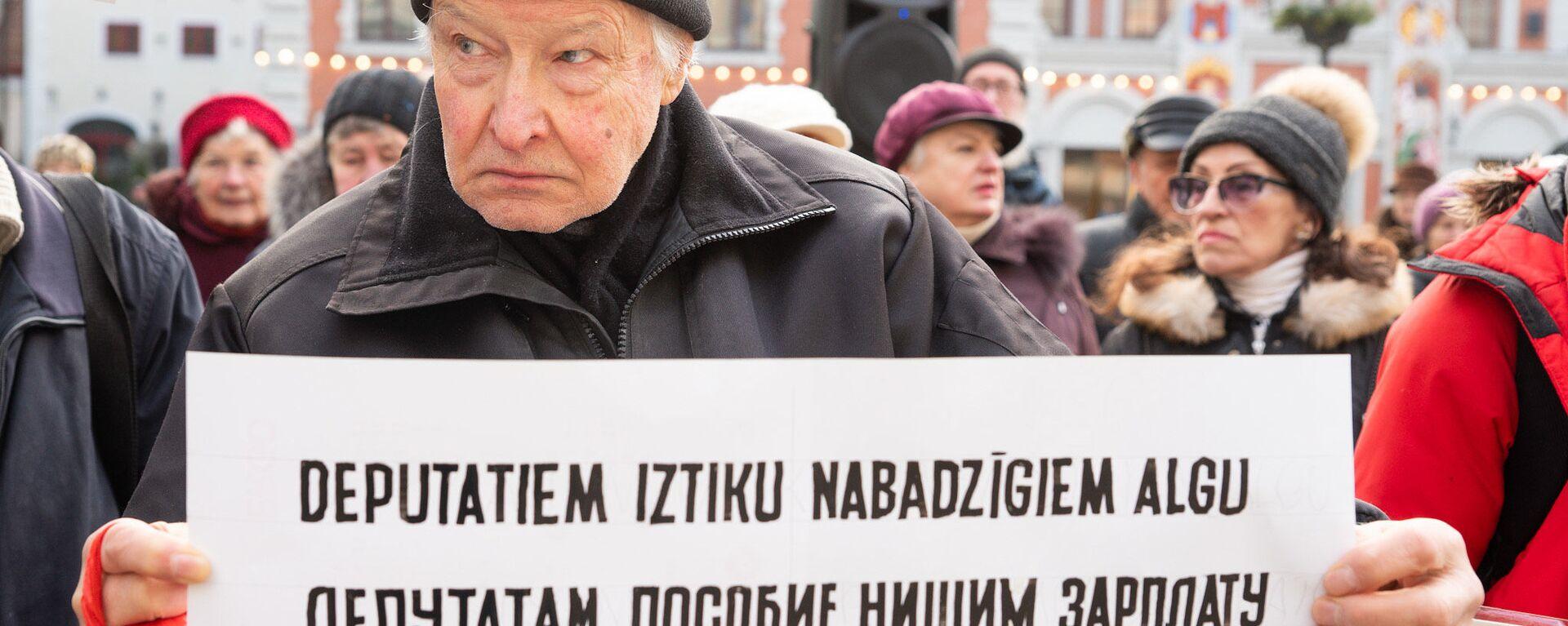 Пикет против закрытия пунктов бесплатной раздачи горячего питания - Sputnik Латвия, 1920, 06.02.2020