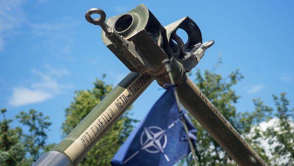 Тяжелая военная техника США в Даугавпилсе в 2016 году  - Sputnik Latvija