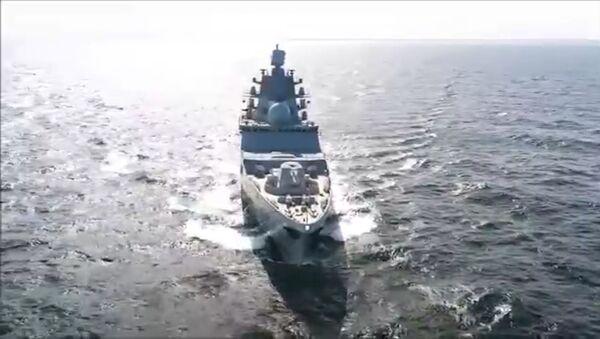 Россия испытала новейший фрегат Адмирал флота Касатонов - видео - Sputnik Латвия