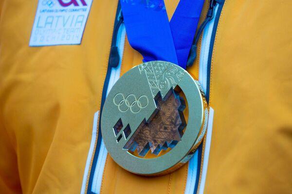 Золотая медаль зимней Олимпиады в Сочи - Sputnik Латвия
